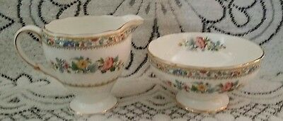 Foley Ming Rose Sugar Bowl And Creamer