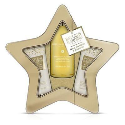 Baylis & Harding Sweet Mandarin and Grapefruit Star Tin Gift Pack FREE P&P