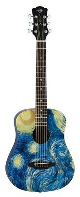 Luna SAFSTR Safari Starry Night 3/4 Acoustic Guitar. Shipping Included