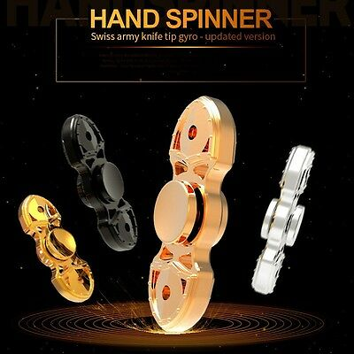 Fashion Hot Hand Spinner AU Fidget Plastic Focus Toy For Kids Adults Autism ADHD