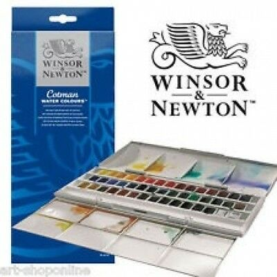 Winsor & Newton Cotman Water Colour Half Pan Studio Set. Shipping Included