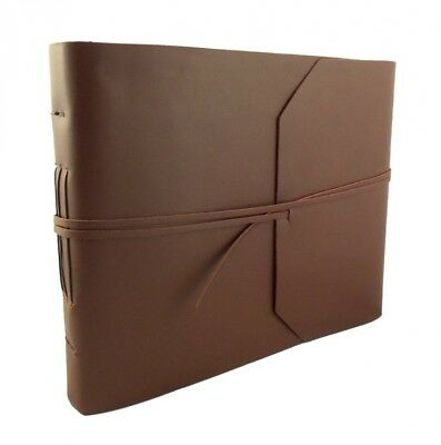 Large Genuine Leather Photo Album with Gift Box - Scrapbook Style Pages -
