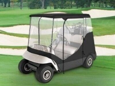 Waterproof Superior Black And Transparent Golf Cart Cover Covers Enclosure Club