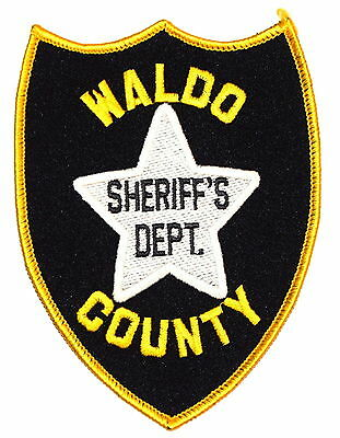 WALDO COUNTY MAINE ME Sheriff Police Patch STAR OLD ~