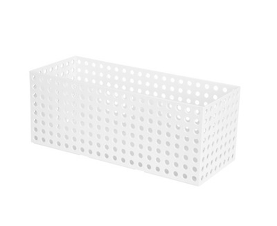 Storage Box Organizer Basket Holder Stackable Portable Container Large White