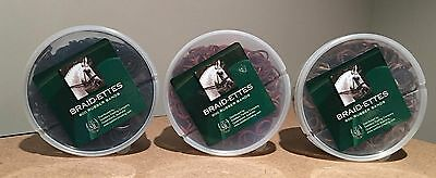 Braid-Ettes Rubber Bands 800pcs/Box Horse Show Prep RRP $6.95