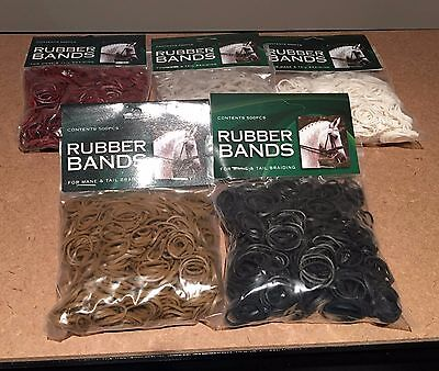 Mane Braid Rubber Bands 500 pack Horse Show Prep
