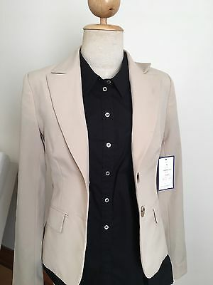 Cue Blazer - Size 6 - Beige - New With Tags - RRP$140