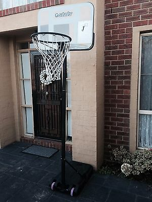 Portable Adjustable Junior Kids Basketball Ring and Stand - in good condition