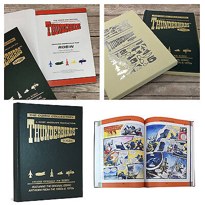 Personalised Thunderbirds Original Comic Strip Collection Delux Hardback Book