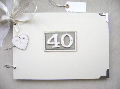 Personalised. 40Th Birthday A4 Size..photo Album/scrapbook/memory/guest Book.