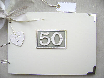Personalised. 50Th Birthday A4 Size..photo Album/scrapbook/memory/guest Book.