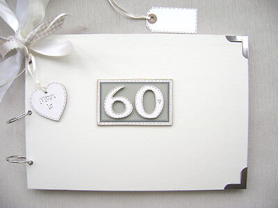 Personalised. 60Th Birthday A4 Size..photo Album/scrapbook/memory/guest Book.