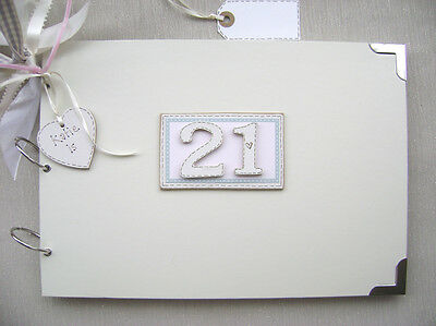 Personalised 21St Birthday Pink A4 Size.photo Album/scrapbook/memory/guest Book.
