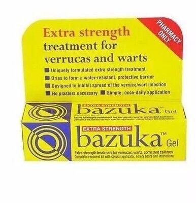 Bazuka extra strength gel for verrucas warts corns and calluses 1 x 5g