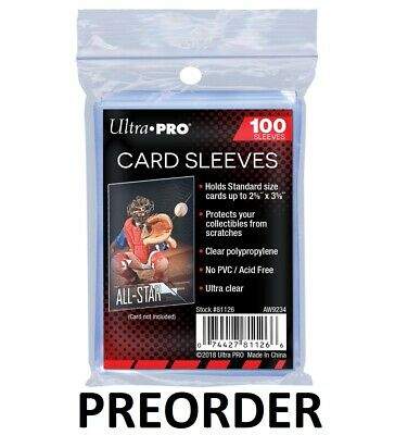 ULTRA PRO Soft Sleeves 100ct Pack BRAND NEW Card Protectors UltraPro Clear Penny