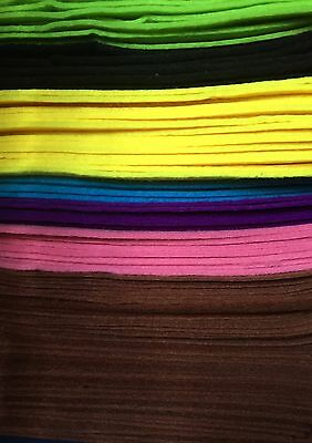 Thick Wool Felt Quality craft sewing fabric A4 sheet FQ / by metre 3mm 8 colours