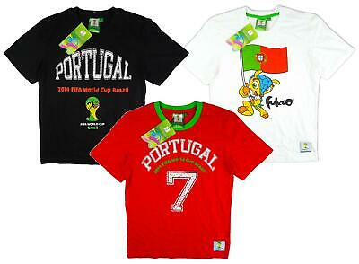 Boys T-Shirt FIFA Top World Cup Footy Tee Cotton 2014 Portugal 2-14 Years