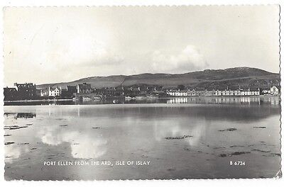 ISLAY Port Ellen from the Ard, RP Postcard by Valentine Postally Used 1965