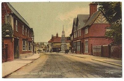 WALTHAM CROSS The London Road, Old Postcard by Knight Unposted c1919