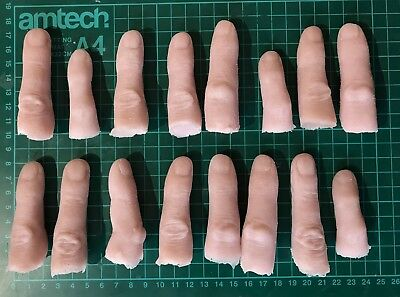 2 X Severed fingers gelatine prosthetics