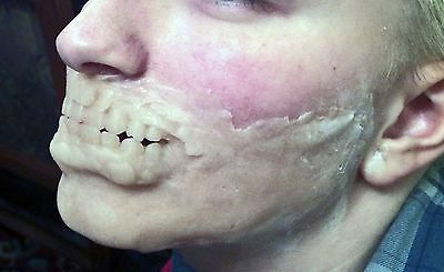 SFX Prosthetic zombie jaw, brow and cheekbone set
