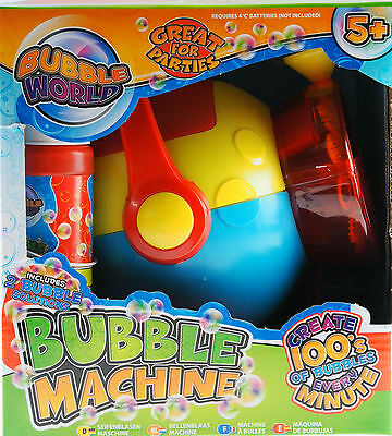 Grafix Battery Operated Bubble Blowing Machine - 100's Bubbles Every Minute!