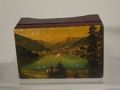 Antique Vintage Black Forest Swiss Switzerland Music Box Two Songs
