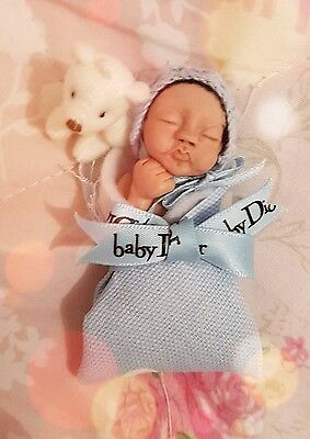 ooak hand sculpted personalised baby boy art doll bundle baby dior bear reborn
