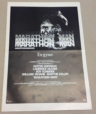 """Marathon Man"" Dustin Hoffman Old Press Release Kit Danish Version Movie Info"