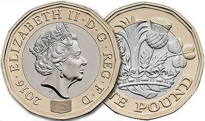 New 12 Sided Coin - Mint Date 2016 - 2017 - Uncirculated UNC One Pound