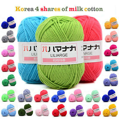 42 Colors 25g Soft Worsted Cotton Chunky Super Bulky Hand Knitting Yarn