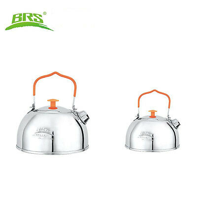 BRS Stainless Steel Water Kettle Camp Picnic Cooking Cookware Pot Teapot 0.65L