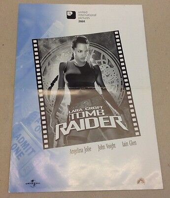 """Tomb Raider"" Lara Croft Angelina Jolie 2001 Press Release Kit Danish Movie"