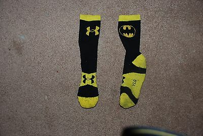 Under Armour Batman Socks Yellow & Black boys Size Youth Large