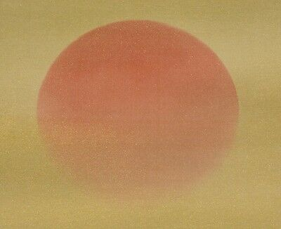 Hanging Scroll Japanese Painting Japan Sunrise Gold Picture Asian Pic Art b035
