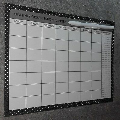 MONTHLY MAGNETIC PLANNER. GREAT GIFT IDEA..PERFECT FOR HOME or OFFICE ITEM 3B