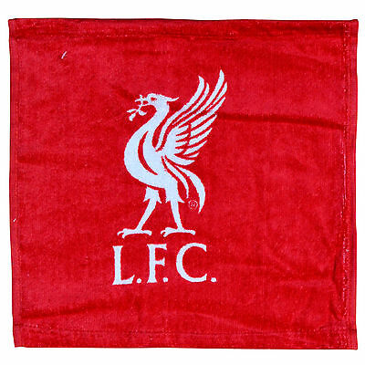 Liverpool FC Red Face Cloth Flannel 100% Cotton 30x30cm Oifficial