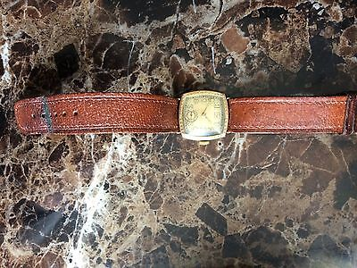 GENT'S VINTAGE GOLD 9ct Masonic Lodge of Harmony ENGRAVED WATCH Spare Repair