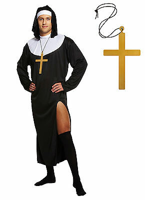 Male Nun Fancy Dress Religious Outfit Mens Adult Stag Do Funny Costume