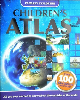 Children's Atlas | Know About Countries of the World | Sticker Book | New
