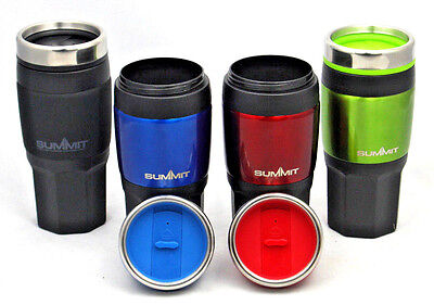 Summit Insulated Thermal Travel Coffee Mug Cup Flask Removable Lid 16oz In Car