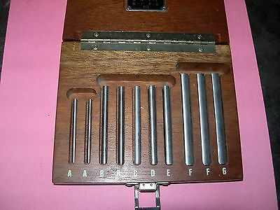 Brown & Sharpe 672  paralell set 1/4-1 inch  in wood case