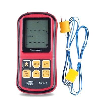 BENETECH Digital Thermometer Dual-channel Thermometer Tester Thermocouple E6F4