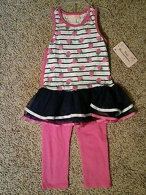 Kids Headquarters Girls 2-pc Ruffle top/Leggings Set -Avail in Size 3T,6,6X-NWT