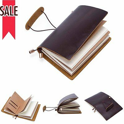 A4 Personalise Refillable Sketchbook Handmade Bound Notebook Journal Diary Brown