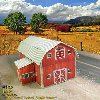 N Scale Building - Barn Coverstock Paper Pre Cut Kit