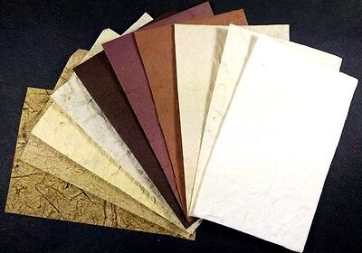 10 Sheets Mulberry Paper Handmade Scrapbook Thick Craft DIY Invitations Decor A4