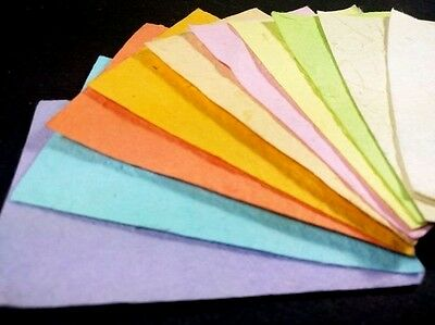 10 Sheets Handmade Scrapbook Invitations Craft Decor A4 Thick Mulberry Paper