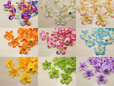 100pcs Cartland Artificial Thai Orchid Silk Flowers Heads lots wholesale crafts